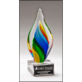 New  Rainbow Colored Art Glass